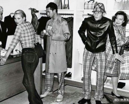 Kate Moss voor Burberry 2000